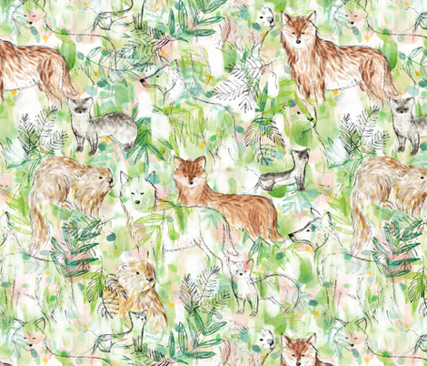 Rare sighting - © Lucinda Wei fabric by lucindawei on Spoonflower - custom fabric