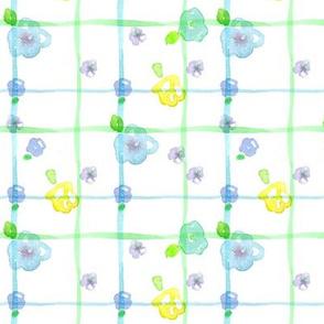 Tea Flower Plaid