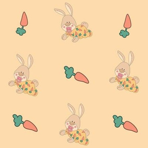 Baby Bunnies and Carrots