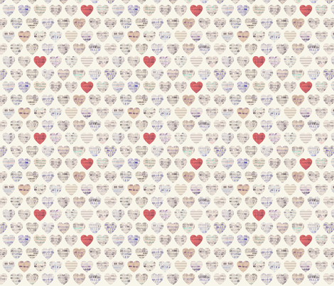Library Love Two-Thirds Scale fabric by lellobird on Spoonflower - custom fabric