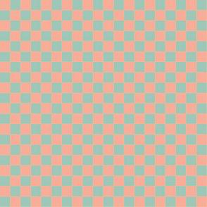 orange and green checker