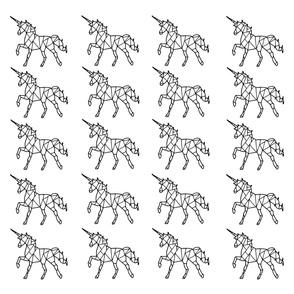 Spoonflower-Black-and-White-Geometric-Unicorn-Illustration