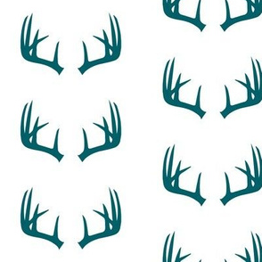antlers in dark turquoise - C18BS