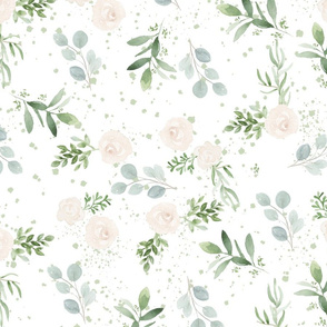 Seamless floral paper