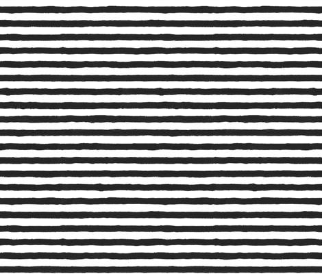 Painted Stripes BW Combo fabric by leahsoha on Spoonflower - custom fabric