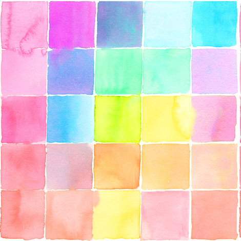 watercolor tiles fabric by erinanne on Spoonflower - custom fabric