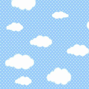 Blue and White Clouds