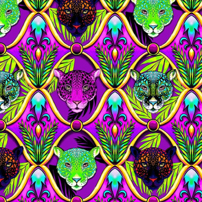 neon jungle jaguar ogee