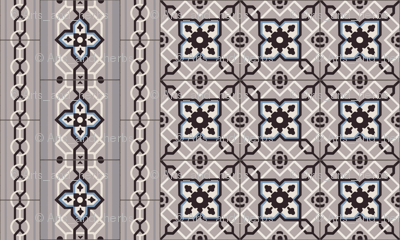 Small Antique Tiles with Border