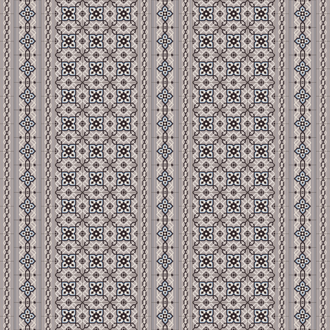 Small Antique Tiles with Border fabric by arts_and_herbs on Spoonflower - custom fabric