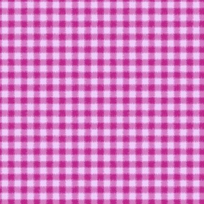 Fuzzy Rose Red and Pink Buffalo Plaid