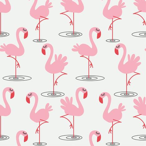 Flamingos fabric by kaicopenhagen on Spoonflower - custom fabric