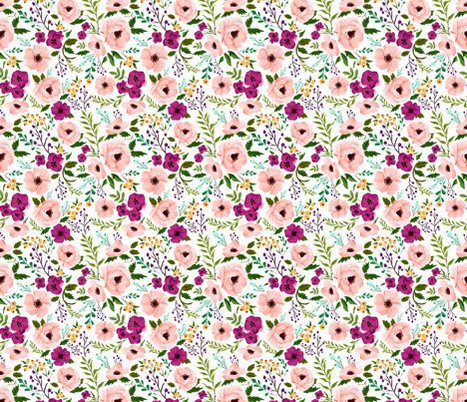 Smaller Josie Meadow Floral fabric by sweeterthanhoney on Spoonflower - custom fabric