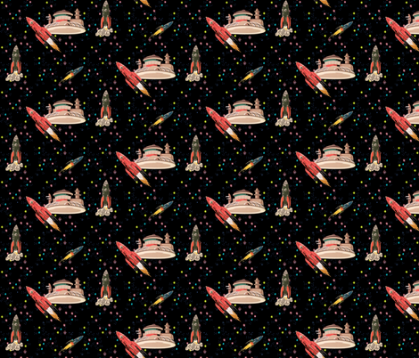 The space station fabric fenderskirt spoonflower for Space station fabric