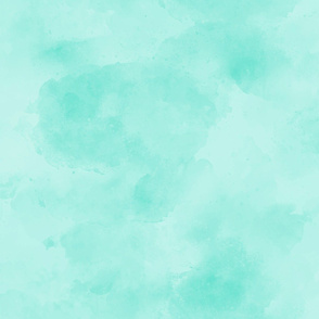 Deep Mint Jade Green Aqua Blender || Suede Watercolor Textured Grunge Solid _ Miss Chiff Designs
