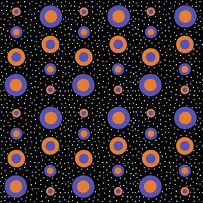Mod spots small - blue orange