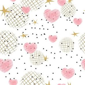 Valentines Day seamless modern luxury pattern.