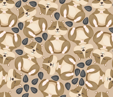 Hamster Pattern Wallpaper Danira Spoonflower