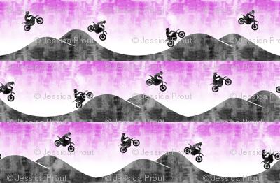 (micro scale) motocross / dirt bike  || purple
