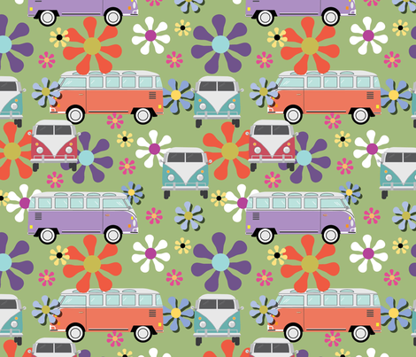 Vintage Van fabric by cathleenbronsky on Spoonflower - custom fabric