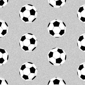 soccer ball sports fabric nursery kids grey