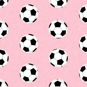 soccer ball sports fabric nursery kids pink