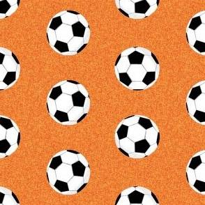 soccer ball sports fabric nursery kids orange