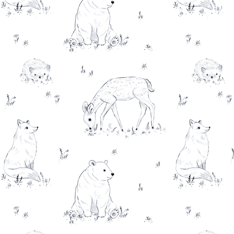 Forest Tale fabric by innamoreva on Spoonflower - custom fabric