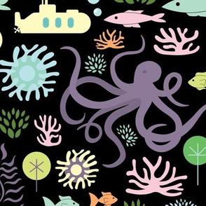 Octopus's Garden on Black