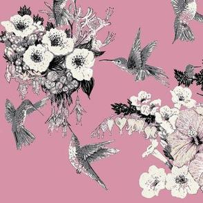 Dusty Rose, Cream & Gray Humming Bird