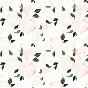 vintage blush floral M