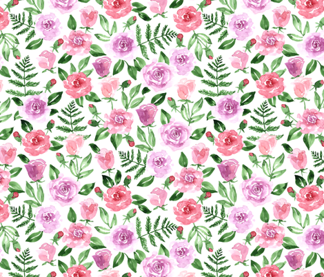 Bright bouquet fabric by innamoreva on Spoonflower - custom fabric