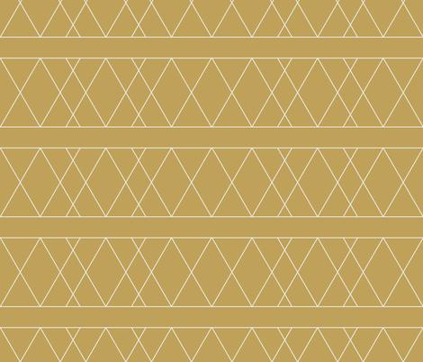 lines-mustard fabric by anneke_doorenbosch on Spoonflower - custom fabric