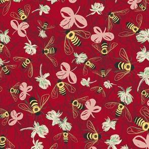 C1004_CLOVER BEE DITSY-cherry-R