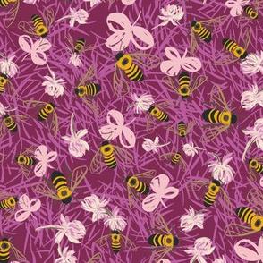 C1004_CLOVER BEE DITSY-raspberry-R