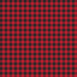 "1/4"" Red Buffalo Plaid - Woodland Critters Coordinate"