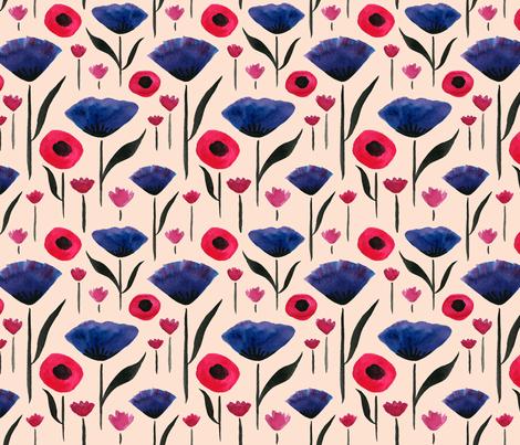 Royal Garden (blush) fabric by mishazadeh on Spoonflower - custom fabric