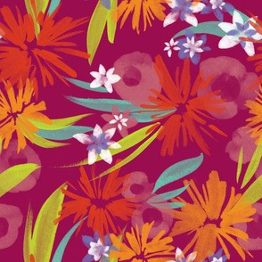 Mony Floral in Party Red-Violet