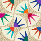 MRR - Many Rays of Ra Cheater Quilt