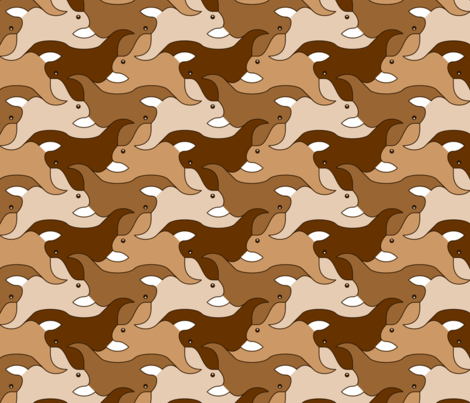 07623769 : rabbit 2g 4 : brown fabric by sef on Spoonflower - custom fabric