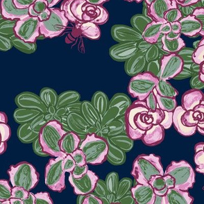 F1055_SEDUM FLORAL MIX-navy-R
