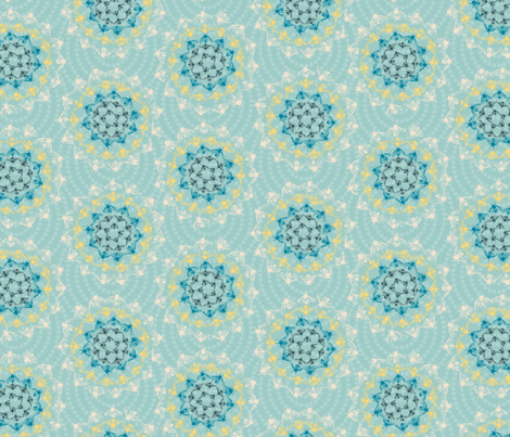 G1017_HONEYBEE CROCHET-eggshell-R fabric by elizabethhalpern on Spoonflower - custom fabric