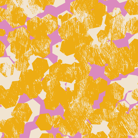 T1004_HONEYCOMB-gold-R fabric by elizabethhalpern on Spoonflower - custom fabric