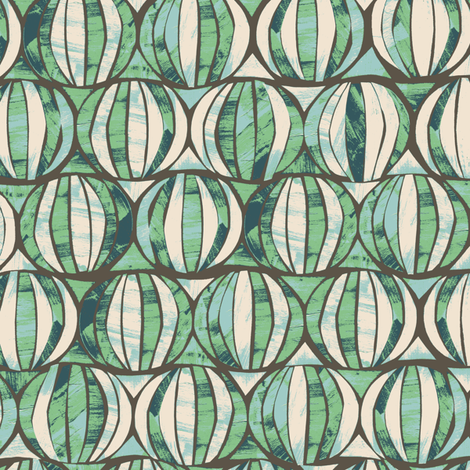 G1018_GEO HIVE-greengage-R fabric by elizabethhalpern on Spoonflower - custom fabric
