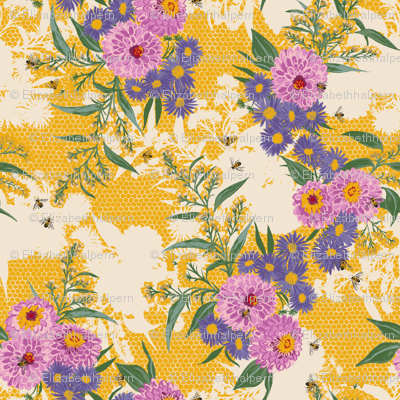 F1052_BEE BOUQUET_1-Gold-R