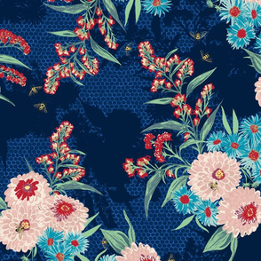 F1052_BEE BOUQUET_2-Navy-R
