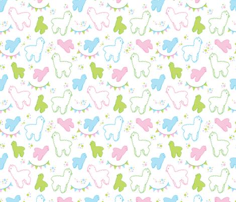 Alpaca Party fabric by chibiosaka on Spoonflower - custom fabric