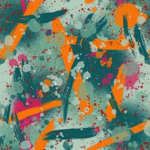 Artist palette paint splatter