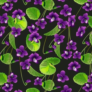 Seamless pattern with flowers violet