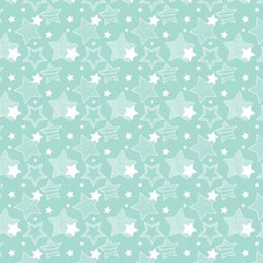 Stars - Light Blue & White